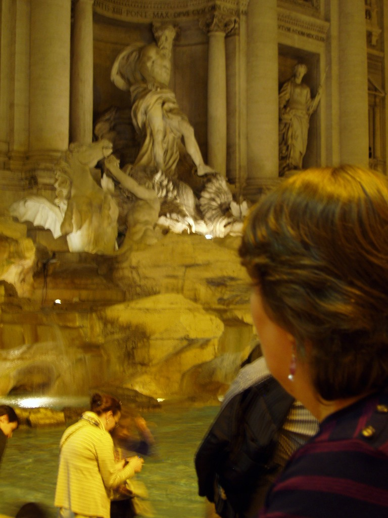 We finished our Passegiatta at Trevi Fountain throwing a coin in the Water so that we may return to Rome.